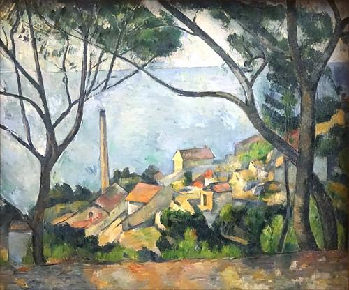 La Mer à l'Estaque de P. Cézanne (Musée national Picasso, Paris)