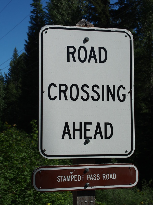 John Wayne Pioneer Trail Crossing