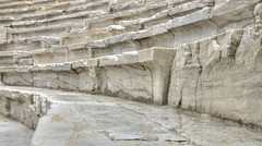 Les gradins du stade romain