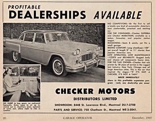 1961 Checker Ad (Canada)