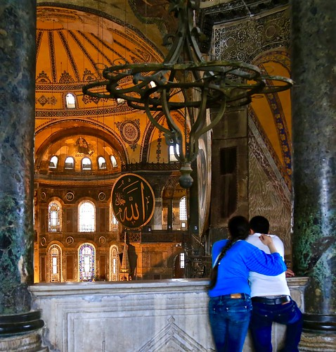 from the upper level of Hagia Sophia