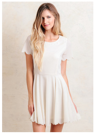 scalloped dress