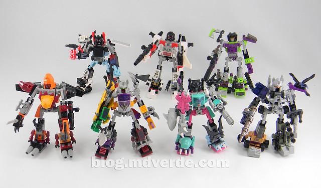 Transformers Abominus Kre-O - modo combinado vs otros Combiners
