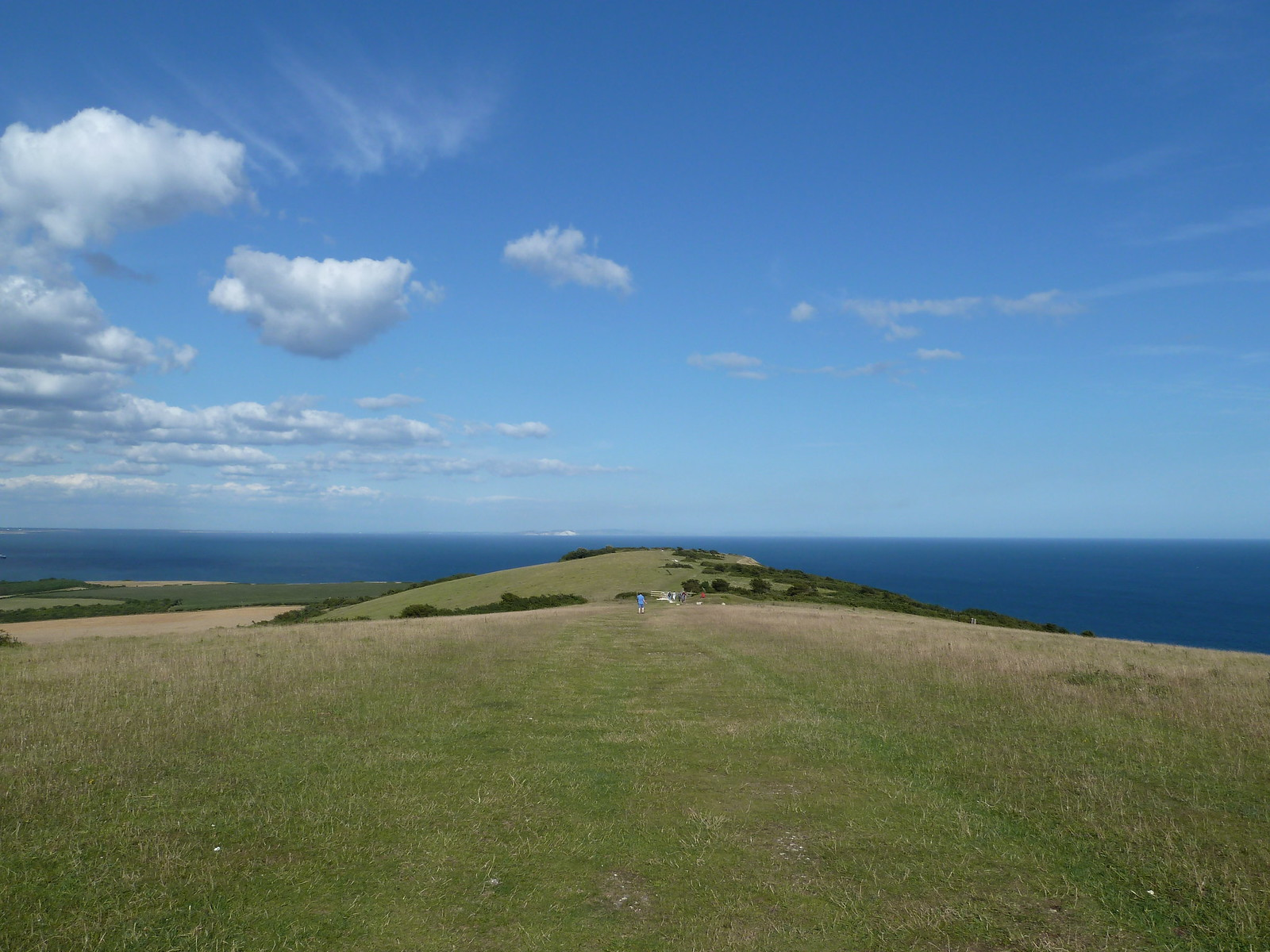 photo from walk Looking back to the sea from Ballard Hill along the Purbeck Way.