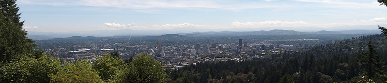 Overlook of Portland: From the Pittock Mansion