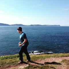 A hike at Cape Spear yesterday.