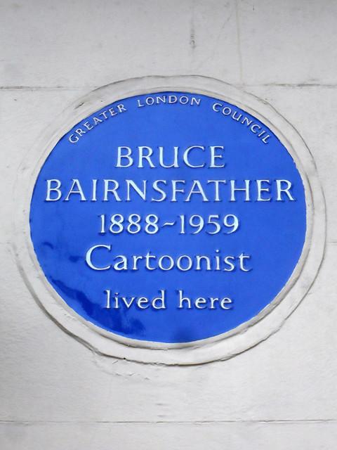 Bruce Bairnsfather blue plaque - Bruce Bairnsfather 1888-1959 cartoonist lived here