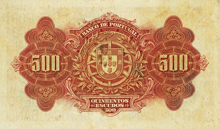 Portugal 500 escudo, reverse