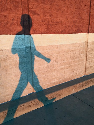 sunset shadow ohio summer brick wall evening walk august warren 2015
