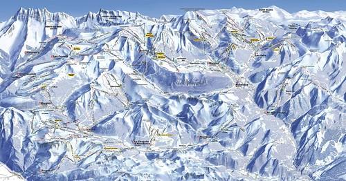 Champery / Portes du Soleil - mapa sjezdovek