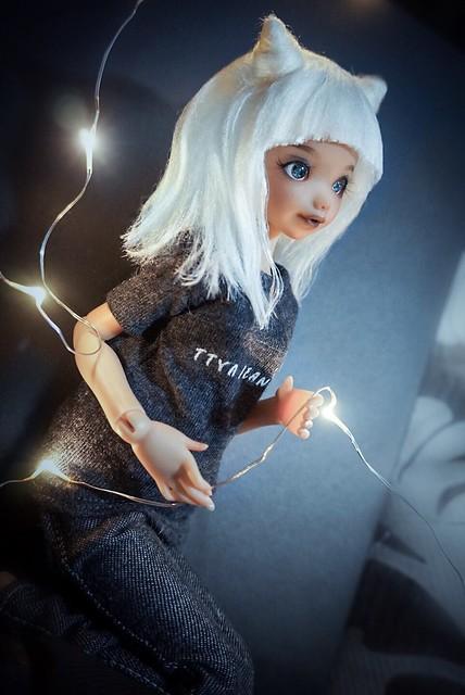 Change of look~ The fantasy eyes looks awesome! 😬👍✨💕 #doll #dolls #bjd #artistdoll #momonita #ateliermomoni