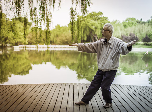 picture of man doing tai chi