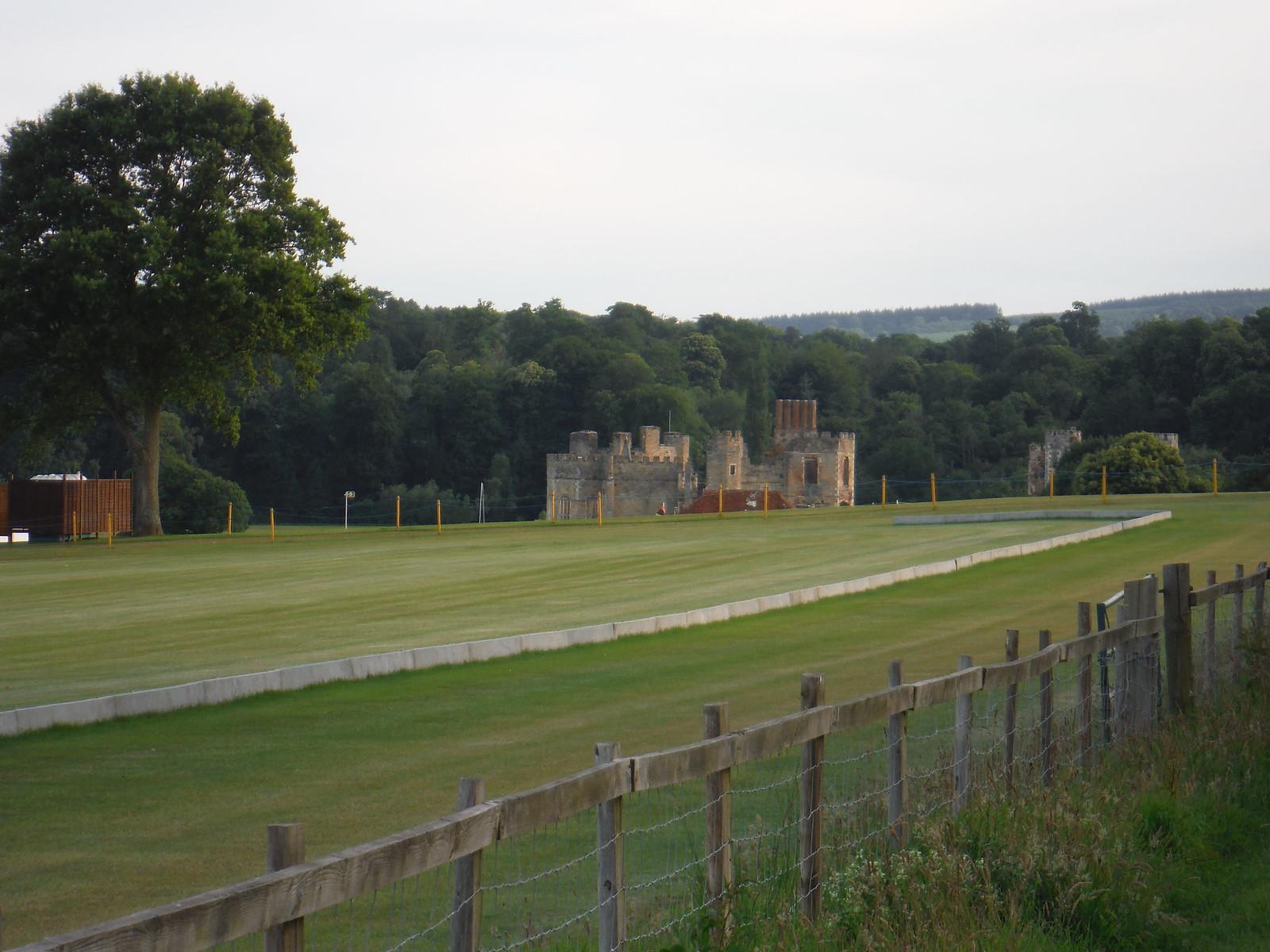 Far View of Ruin in Cowdray Park SWC Walk 217 Midhurst Way: Arundel to Midhurst