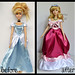 """repainted 17"""" cinderella doll in her pink dress. - ready for the ball."""