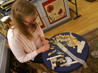 Lace Weaving Demonstration at Rococo
