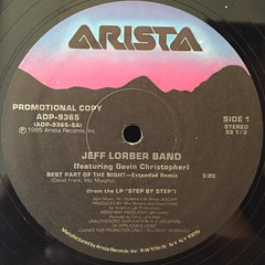 THE JEFF LORBER BAND:BEST PART OF THE NIGHT(LABEL SIDE-A)