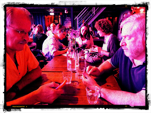 Al & Mikey at the Pilek Restaurant in the NDSM of Amsterdam