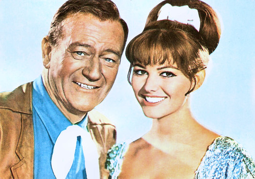 Claudia Cardinale and John Wayne in Circus World (1964)