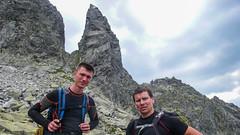 Jarek i Marcin, w tle Zadni Mnich, nasz kolejny cel.