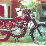 Classic 1968 BSA Firebird Scrambler / Nikon FM2n / Svema 125 Color Negative Film