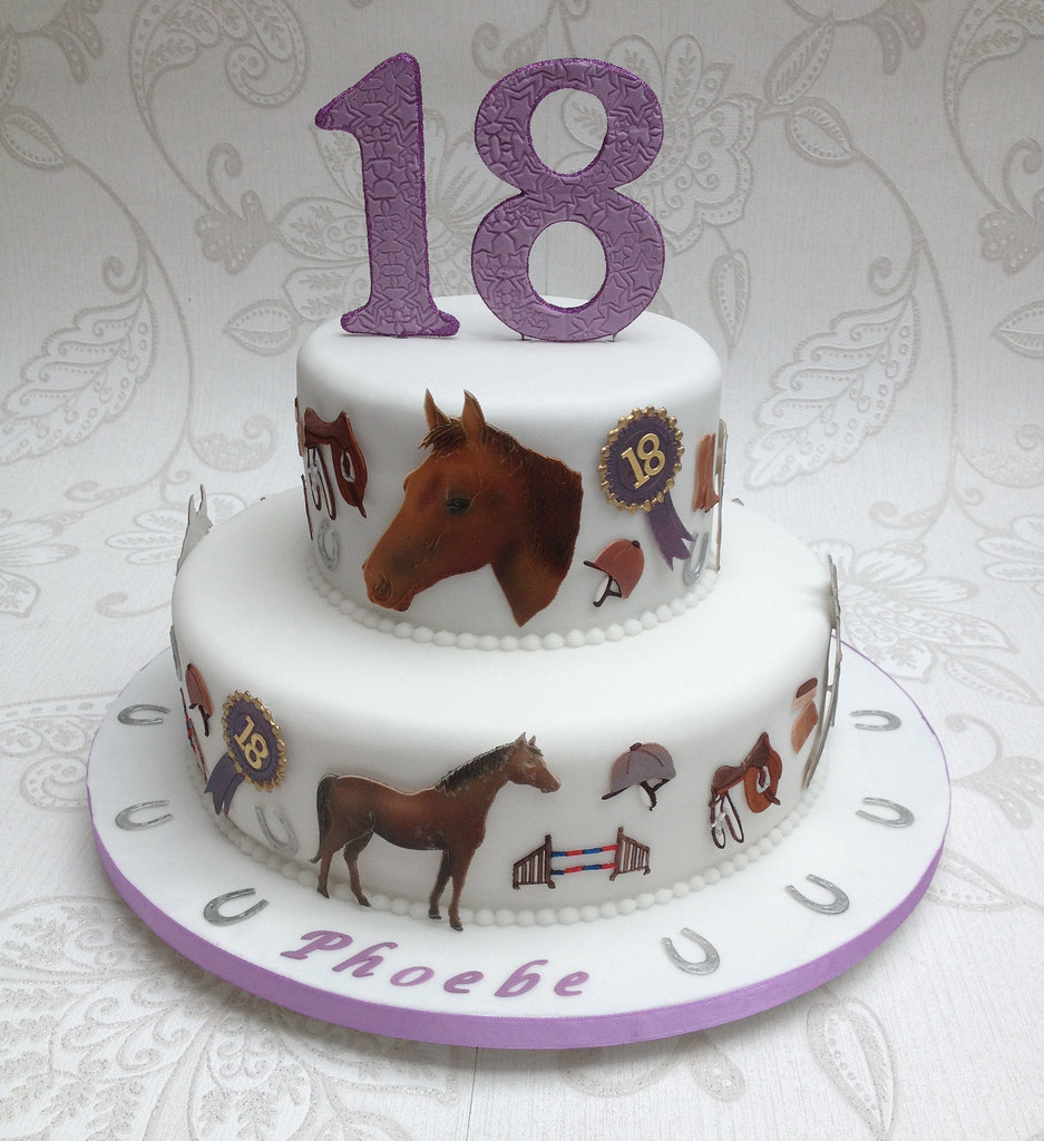 Horse 18th Birthday Cake