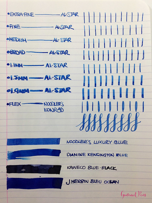 Ink Shot Review Noodler's Luxury Blue @CarolLuxury (2)