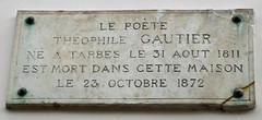 Photo of Théophile Gautier marble plaque