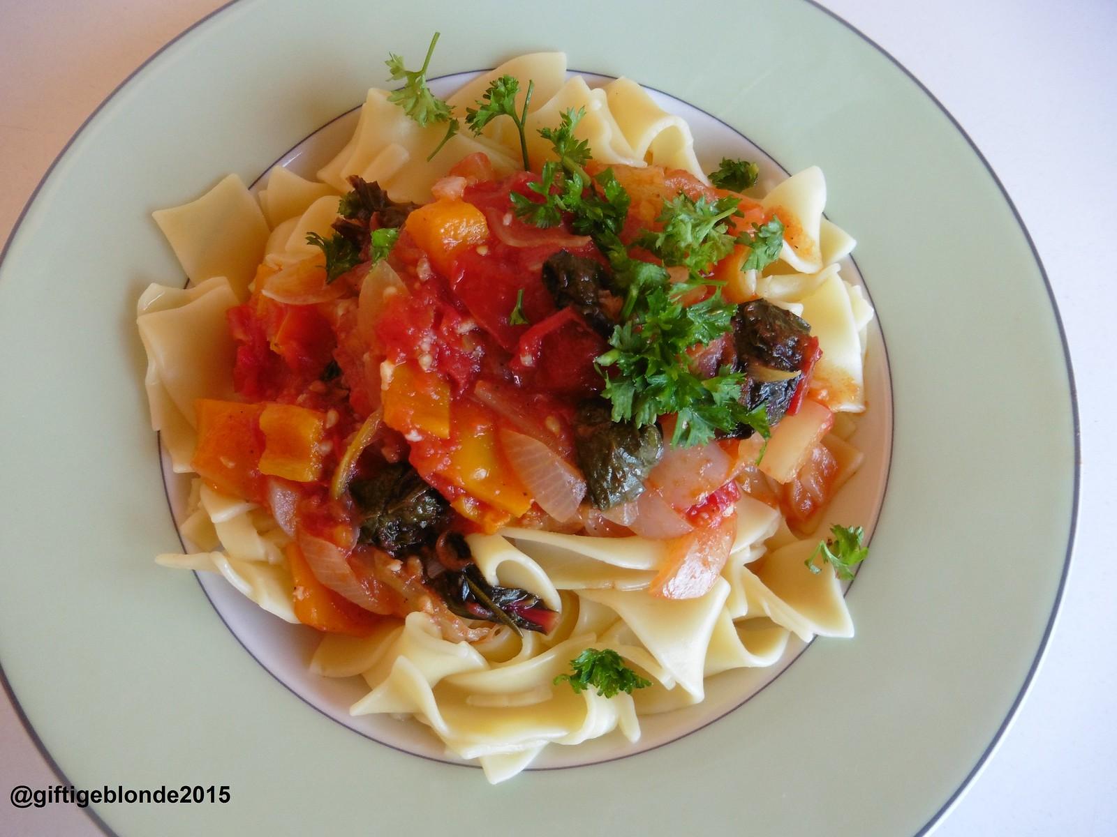 Pasta mit Gemüsesauce