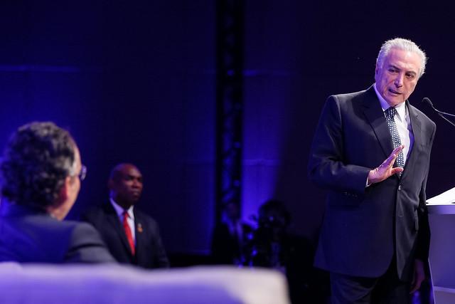 Michel Temer, que se aposentou aos 55 anos ganhando R$ 30 mil, propõe reforma da Previdência que ainda será votada no Congresso - Créditos: Beto Barata/PR