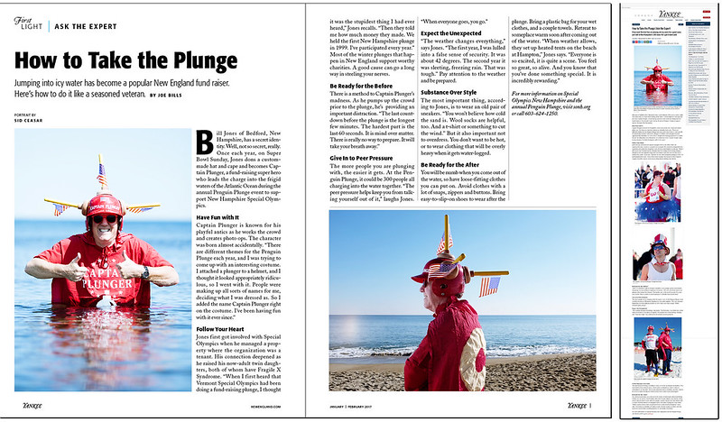 Captain Plunger • Yankee Magazine Jan/Feb 2017