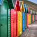 Whitby beach huts by HeBeDeBe