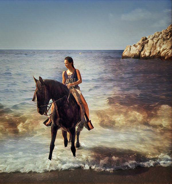 Beach at Salebrena - Prisma filter
