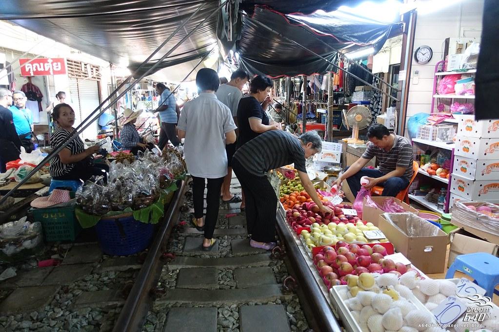 泰國曼谷-水上市場+美功鐵道市集+河濱夜市-20