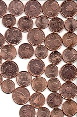 money handling, cash, brown, money, copper, coin, circle, currency,