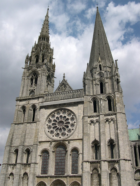 Magnificent Gothic architecture of Chartres Cathedral