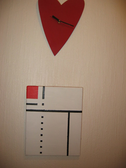 Mondrian painting made at home
