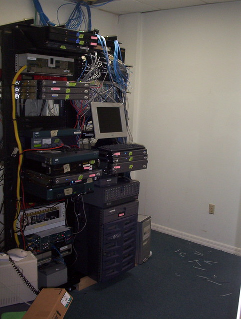 The Messy Server Room Minus Shelving Flickr Photo