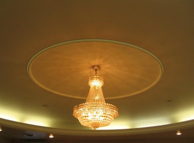 The welcoming chandelier