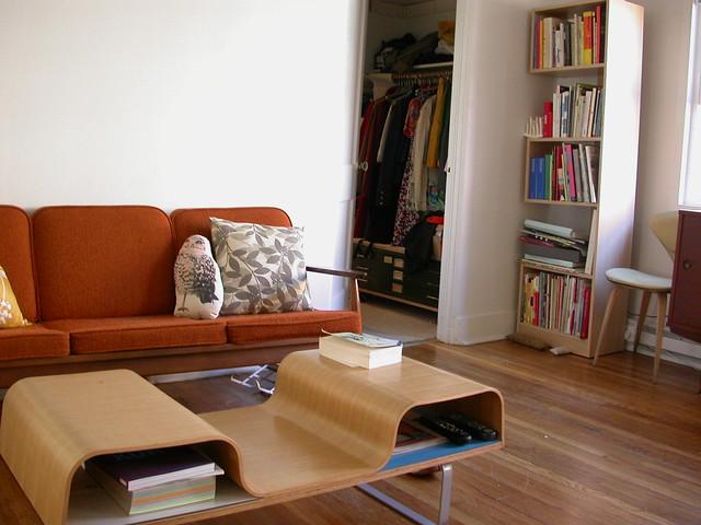 living room, closet