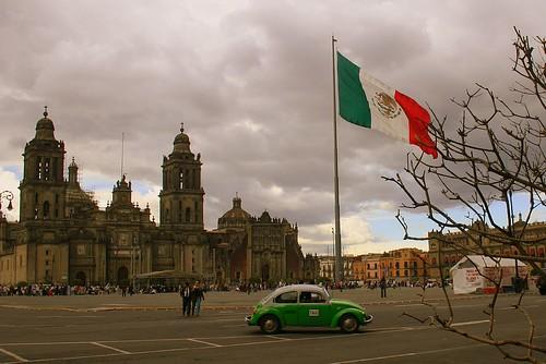 La plaza Zócalo en Mexico DF