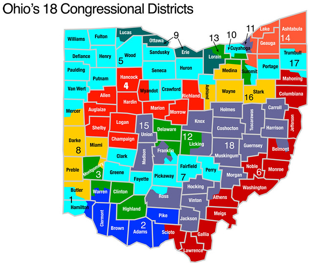 Ohio Congressional Districts Submited Images
