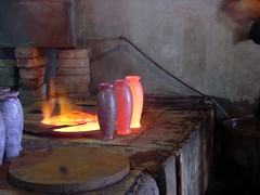 wood, painting, forge, still life, lighting, hearth,