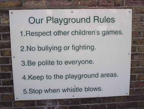 School Playground Rules
