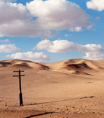 Telegraph Pole in the Gobi Desert | by James Merry
