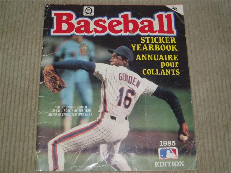 1985 Baseball Sticker Yearbook