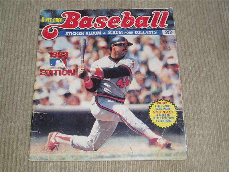 1983 Baseball Sticker Album