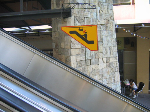 Recursive Escalator Sign