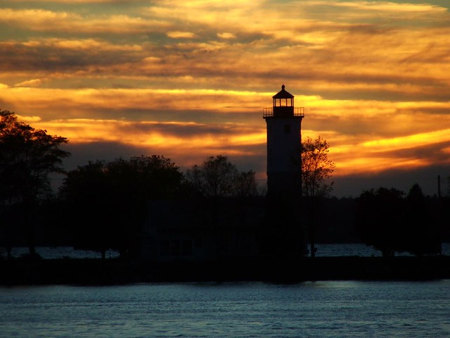 Lighthouse Point At Sunset