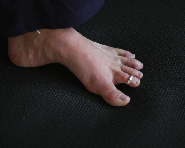 Emily's foot