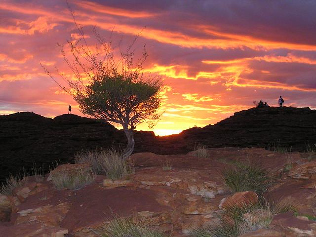 Sunset - Kings canyon Australia